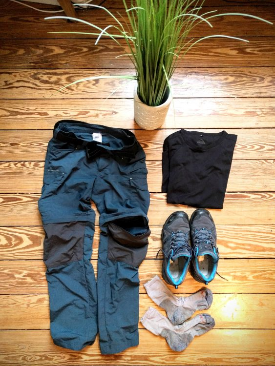 équipement convertable pantalon randonnée vosges nature